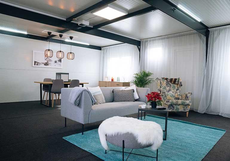 continest container interior design option: lounge