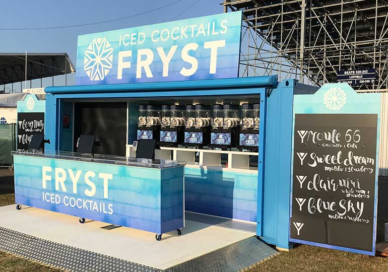 storefront mobile bar at Silverstone