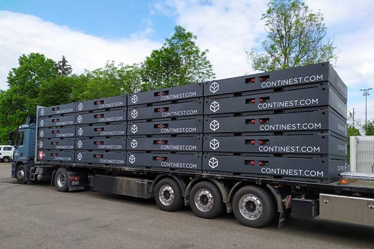 continest containers large truck