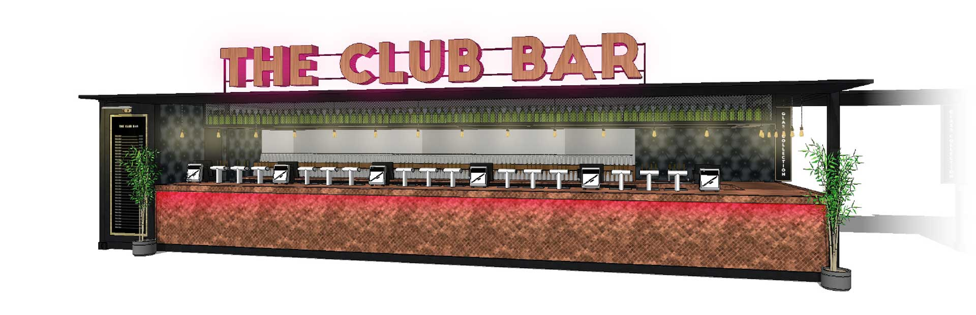 bar and catering unit design example