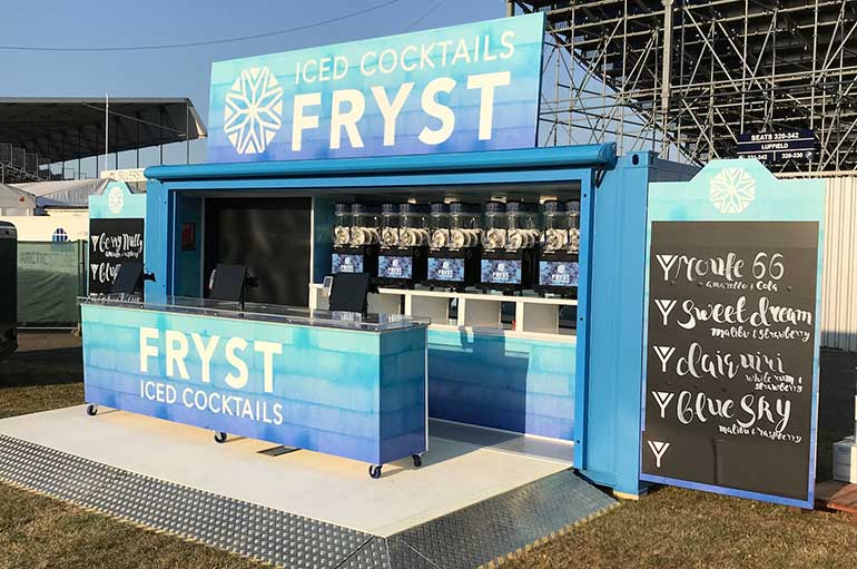 portable bar container conversion at venue