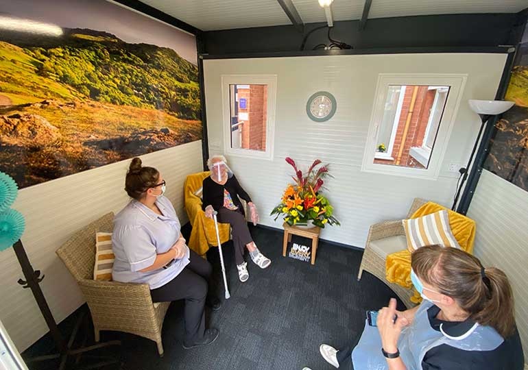 care home visitor centre