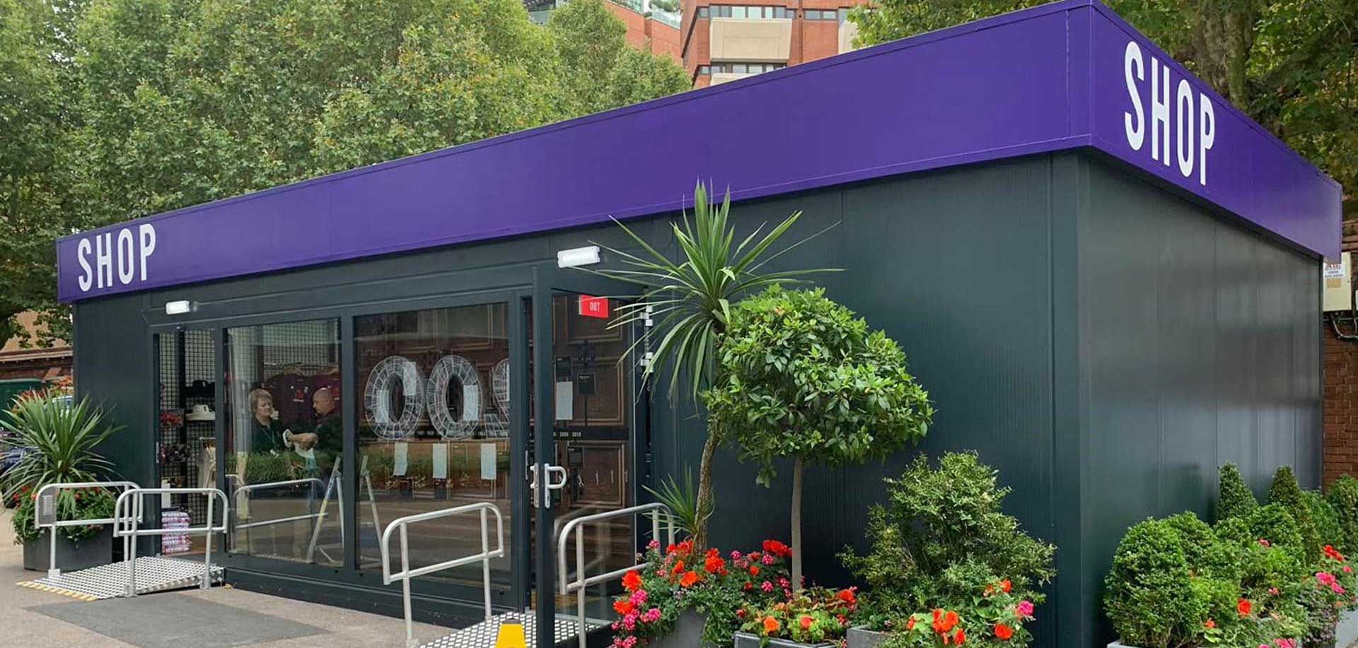 portable shop container conversion at Lords cricket ground