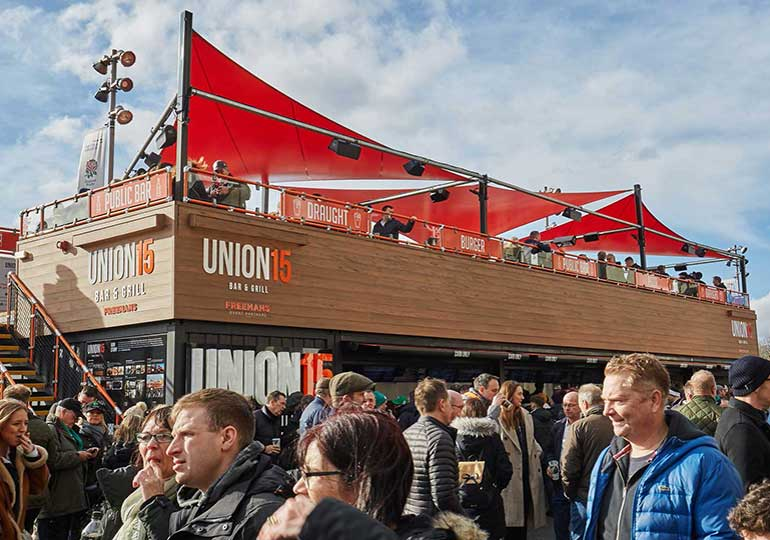 shipping container conversions for stadium events