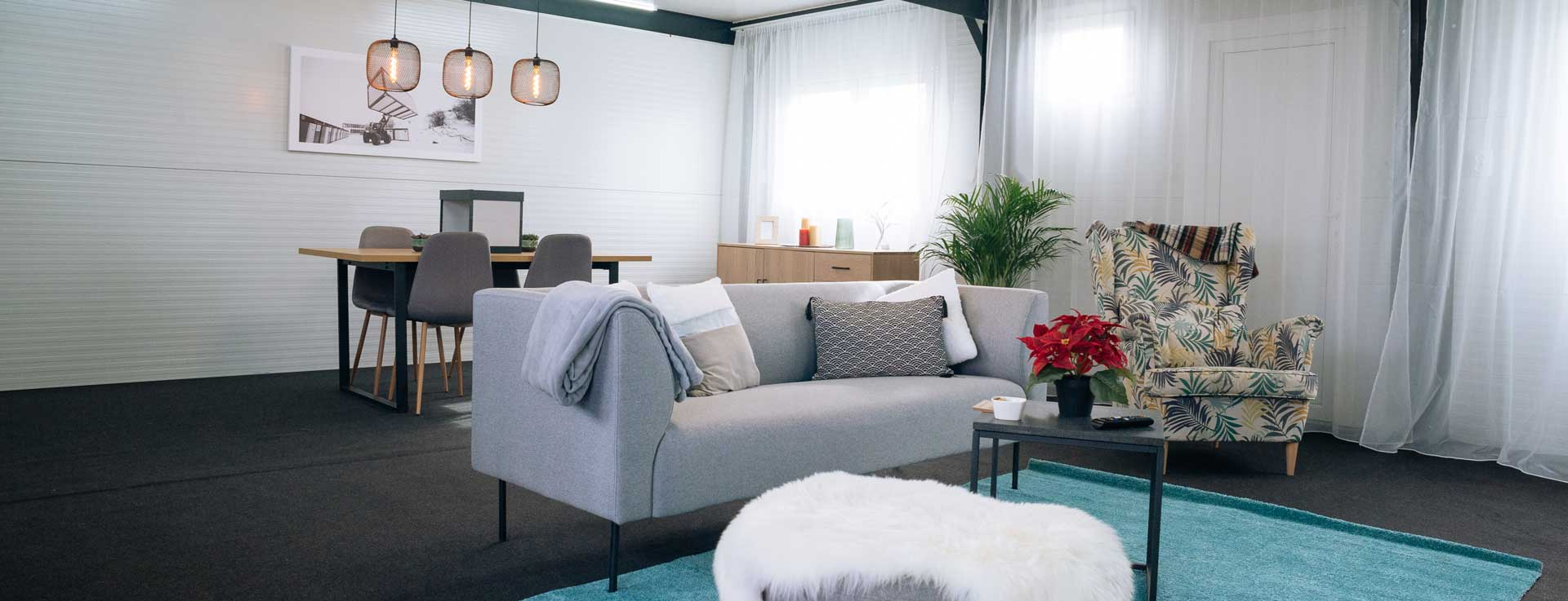 care home container living room