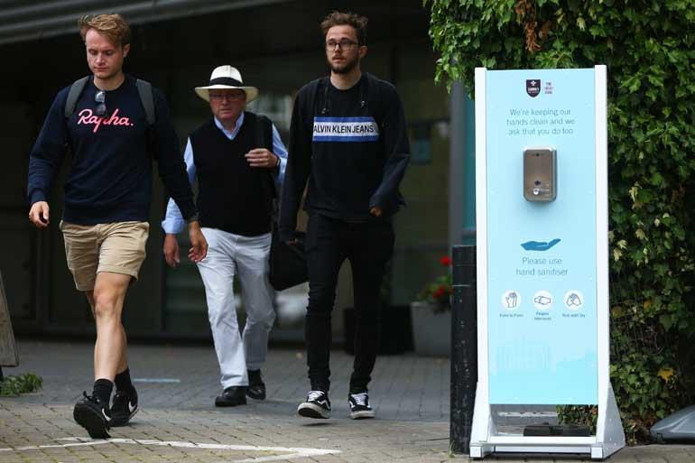 Cube Supports First Pilot Crowd Scheme Event With Hand Sanitiser Stations