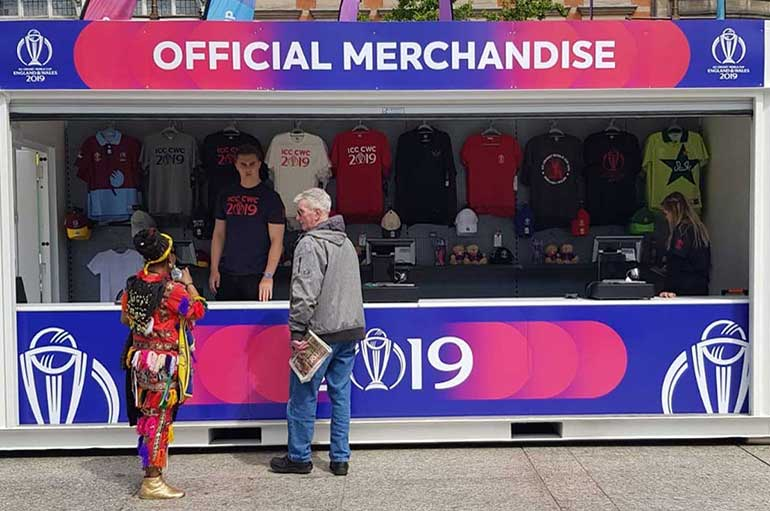 retail and merchandise unit at the cricket world cup