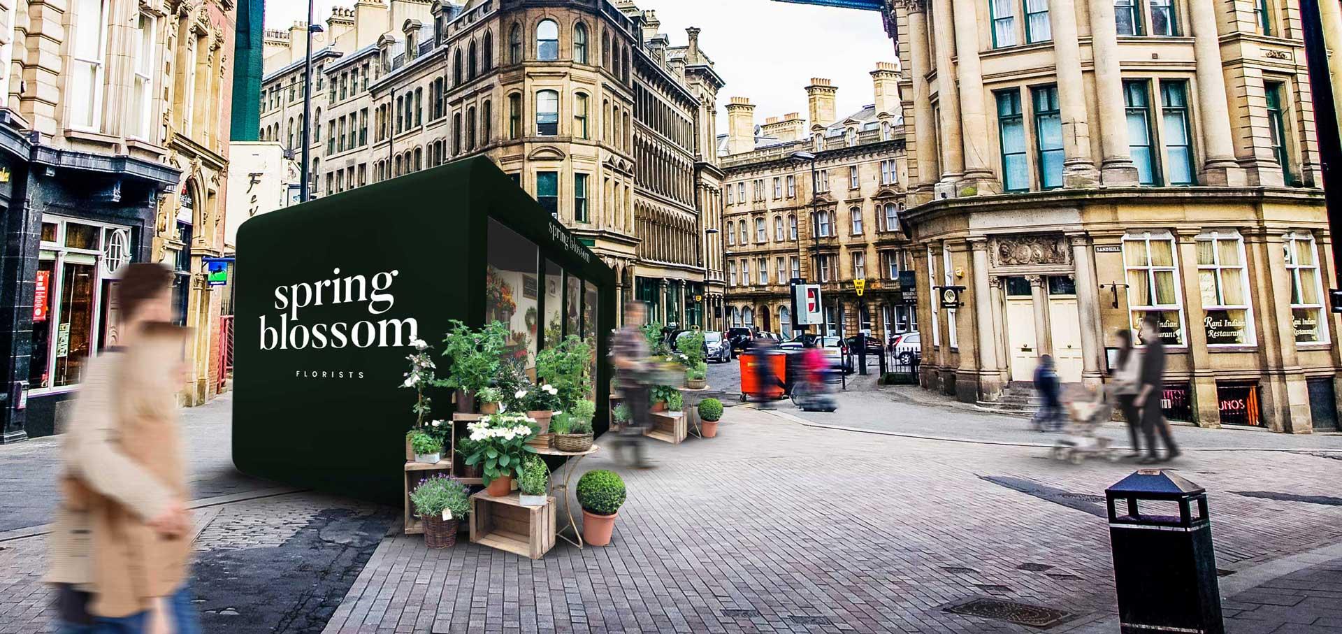 retail unit for florist in town centre location