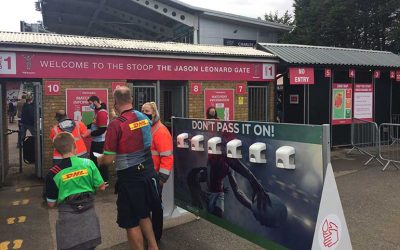 Harlequins installs Cube's Event Hand Sanitiser Stations at Rugby's First Crowd Pilot