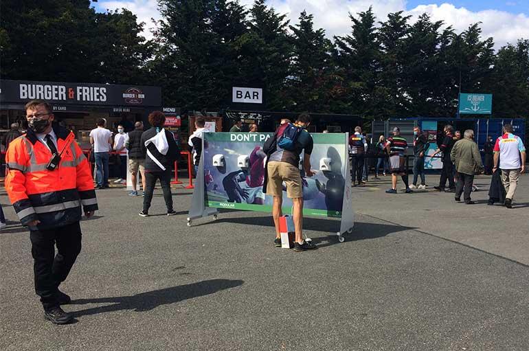 event hand sanitiser stations