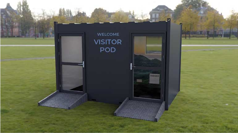 care home visiting pods
