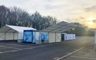 Cube Modular builds COVID-19 screening test facility at Gatwick Airport
