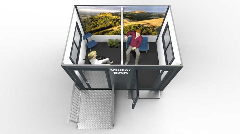 visitor centre cutaway
