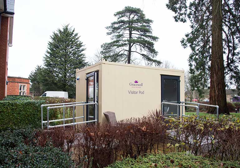 visiting pod gracewell care home