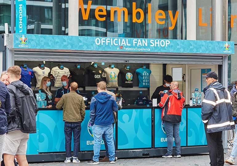 euro 2020 fan store at wembley london stadium