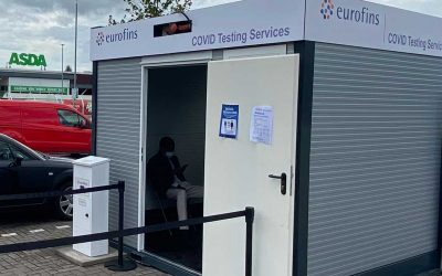 Cube x Eurofins COVID-19 Testing Facilities Pods Installed at ASDA Car Parks Across the UK